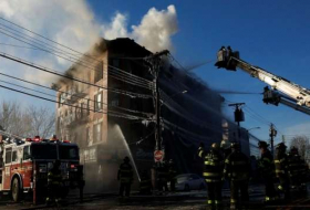 Nearly two dozen hurt in Bronx fire - NO COMMENT