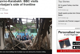 BBC journalists visit Azerbaijan`s frontline areas damaged by Armenian troops - VIDEO
