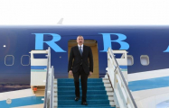Azerbaijani president arrives in Turkey -