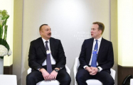 President Ilham Aliyev meets with WEF President in Davos
