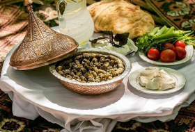 Azerbaijani cuisine: Basqal`s beech leaf Dolma - recipe and preparation