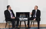 Ilham Aliyev meets European Commission VP Sefcovic in Davos