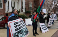Anti-Armenian protest held in front of Armenian embassy in USA –PHOTOS