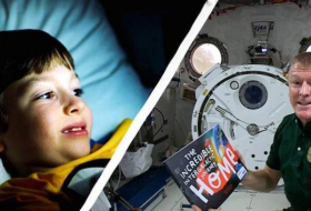 Astronauts are reading bedtime stories to children from space