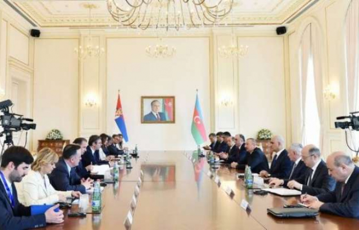 "Azerbaijani President holds meetings with Serbian counterpart-&nbsp;<span style=""color: #ff0000;"">UPDATED, PHOTOS</span>"