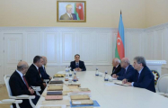 National flag once hung in parliament of Azerbaijan Democratic Republic presented to government - PHOTO