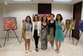 Art exposition of young Azerbaijani-American female artists held in Los Angeles