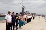 Russian warships arrive in Baku - PHOTOS