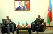 Azerbaijani defense minister meets with Iranian delegation