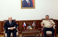 Azerbaijani defense minister meets with Russian ambassador