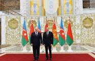 Official welcome ceremony held for Azerbaijani president in Minsk - PHOTOS