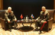 Azerbaijani defense minister meets chief of Turkish General Staff