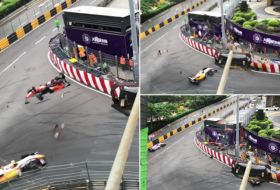 Incredible crash in Formula 3 Macau Grand Prix - NO COMMENT
