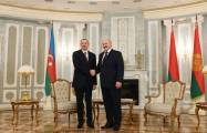 Ilham Aliyev thanks Belarus for its stance on conflict in Nagorno-Karabakh