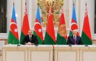 Azerbaijani, Belarus presidents make press statements