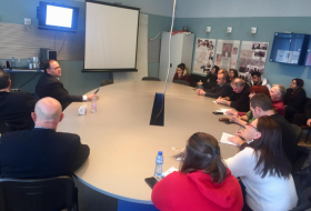 Lecture on Azerbaijan's history and archeology delivered in Bulgaria's University