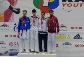 Azerbaijani karatekas win 2 gold, 1 silver in Italy