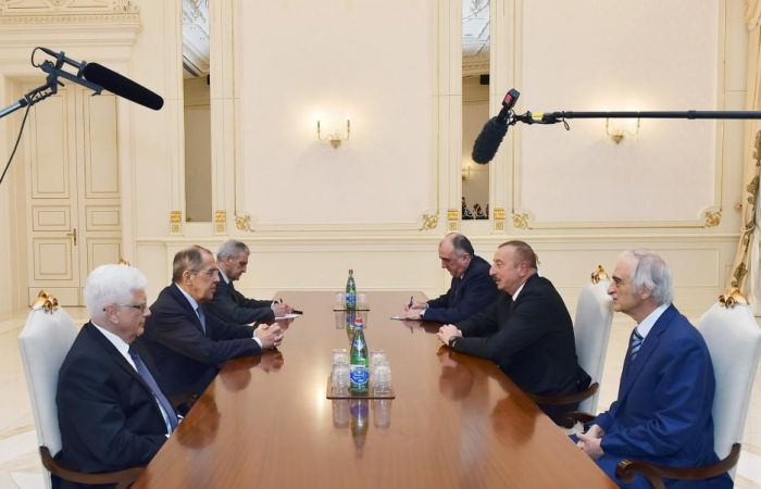 "Azerbaijani President receives Russian FM - <span style=""color: #ff0000;"">UPDATED</span>"