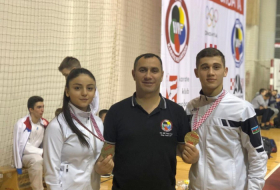 Junior Azerbaijani karate fighters bag two medals at Grand Prix Croatia