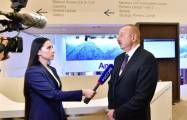 President Aliyev interviewed by Rossiya 1 and CGTN TV channel in Davos