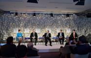 President Ilham Aliyev attends session in Davos
