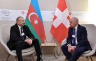 Azerbaijani, Swiss presidents meet in Davos -   PHOTO