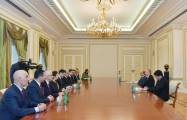 Azerbaijani President recieves Turkish MPs