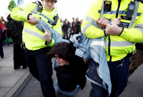 UK police arrest 113 environmental activists in London
