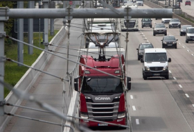 Germany opens its first 'electric highway' for hybrid trucks