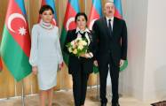 Azerbaijani president and first lady meet president of Russian Rhythmic Gymnastics Federation