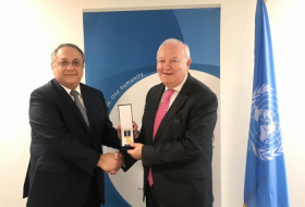 UNAOC High Representative awarded with medal of 100th anniversary of diplomatic service of Azerbaijan