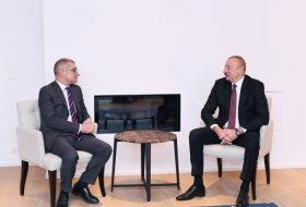 Azerbaijani President meets with Veronica Scotti and Loic Tassel