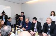 President Ilham Aliyev attends session as part of World Economic Forum