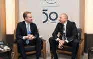 President Aliyev hold several meetings in Davos - PHOTOS