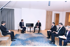 President Ilham Aliyev meets Chief Executive Officer of SUEZ Group