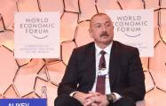 "Azerbaijani president attends WEF panel discussion on ""Strategic Outlook: Eurasia"" - UPDATED"