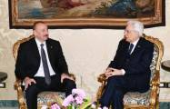 Azerbaijani, Italian presidents hold one-on-one meeting