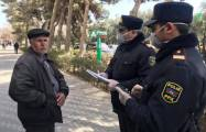 Azerbaijani police fine quarantine breakers in capital -  PHOTOS