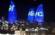 """We are stronger together!"": Baku's Flame Towers illuminated with President Ilham Aliyev's words - VIDEO"