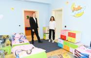 President Ilham Aliyev attended opening of orphanage-kindergarten No2 constructed on the initiative of Heydar Aliyev Foundation in Shamakhi