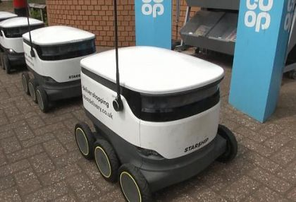 Delivery robot services booming as shoppers opt for contactless alternatives -  NO COMMENT