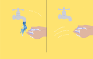 5 steps to saving water when washing your hands -   INFOGRAPHIC