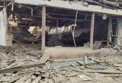 Azerbaijani civilians' houses destroyed after shelling by Armenian armed forces -   PHOTOS