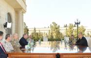 President Ilham Aliyev receives Turkey's military delegation