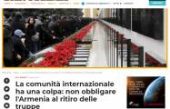 Armenia has serious crimes like the Khojaly genocide on its shoulders - former Italian Ambassador