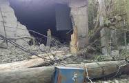Armenian shell explodes in yard of a house in Terter -   PHOTO