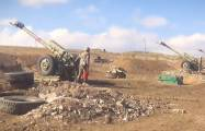 Azerbaijani Army' s artillery units continue to inflict crushing blows on Armenian side -   VIDEO