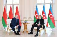 Azerbaijani, Belarus presidents made press statements