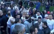 Armenian separatists protest against Russia