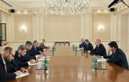 President Ilham Aliyev receives Russian FM - UPDATED